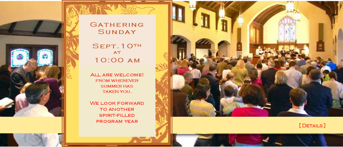 Permalink to: Gathering Sunday 2017